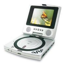 COBY 5`` TFT PORTABLE DVD PLAYER with SWIVEL SCREEN