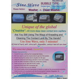 Sine Wave bubble type contact lenses washer (Sine Wave type de lentilles de contact bulle de lave)