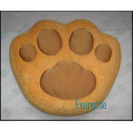 Paw Design Squishy Pillow with Microbead Filled