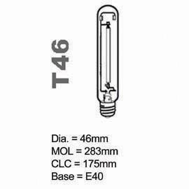 HPS Lamp T type High Rendering Average 400W