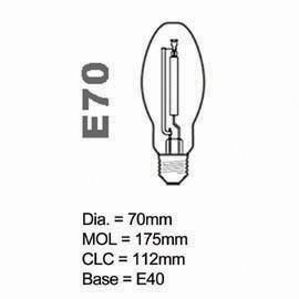 HPS Lamp E type 70W E40