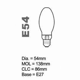 HPS Lamp E type 70W Coated