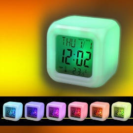 LED Color Changed Digital Alarm Clock