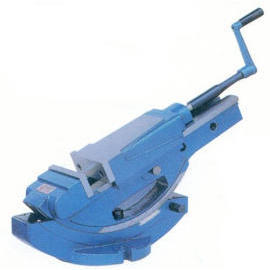 Tilting hydraulic machine vise