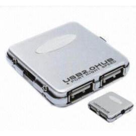 ALUMINUM 4-PORT USB2.0 SILIM HUB