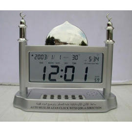 Auto Muslim Azan Clock With Qibla Direction ( Transparent )