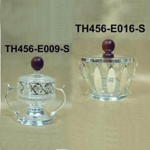 ACRYLIC JAR - SILVER DESIGN JAR
