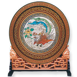 GLASS PAINTING ROUND SCREEN