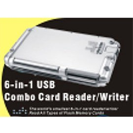 USB 6-IN-1 Card Reader/Writer