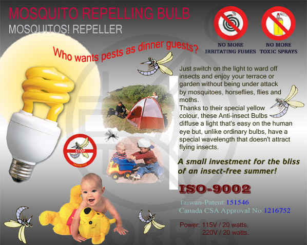 MOSQUITO REPELLING BULB