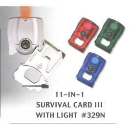 Survival Card with Light