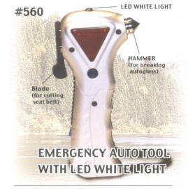 emergency auto tool with LED white light