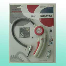 AIR INFLATOR W/GAUGE & COMPASS