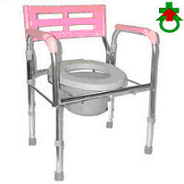CHROM STEEL PLATED COMMODE COMMODE CHAIR
