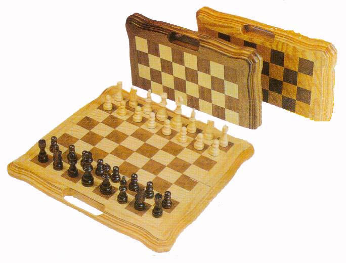3-in-1 wooden game set