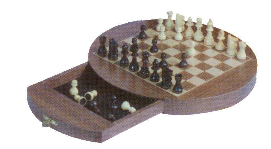 Wooden Magnetic Chess Set (Деревянный Магнитные Шахматы)