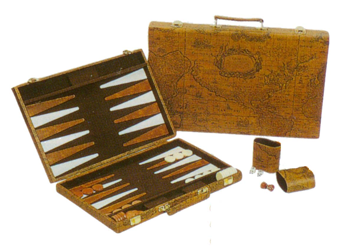 deluxe leather backgammon set