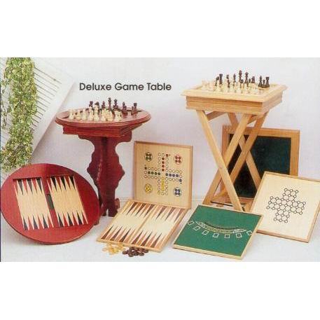 deluxe wooden game table