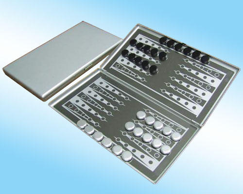aluminum magnetic backgammon set
