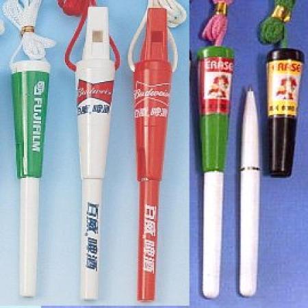 Whistle Walkpen Pen-on-Rope with Breakaway safety cord (Свисток Walkpen Pen-на-Канат с Шнур безопасности Breakaway)