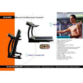 Manual-Fold Motorized Treadmill (Вручную-Fold моторизованной бегущая)