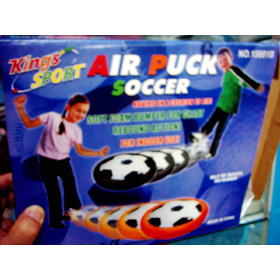 AIR PUCK SOCCER It use four peice batteries after it will turn motor happen to a