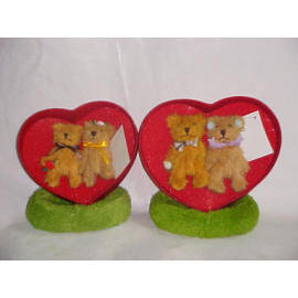 HEAR WITH COUPLE BEAR PLUSH 3``