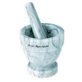 MARBLE MORTAR AND PESTLE (Мрамор ступку с пестиком)