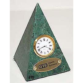 Green Marble Pyramid Table clock, watch clock, paperweight