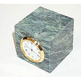 Green Marble Table watch clock, paperweight