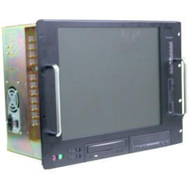 Industrial rackmount computer enclosure with integrated LCD screen (Промышленные стоечный корпус компьютера со встроенным ЖК-экран)