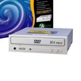 High-Speed 16X DVD-ROM Drive with 512KB Buffer Memory Size - 16X DVD-ROM (Высокоскоростной 16X DVD-ROM с 512 Кб Размер буфера памяти - 16X DVD-ROM)