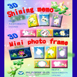 3D Shining Memo & Mini Photo Frame