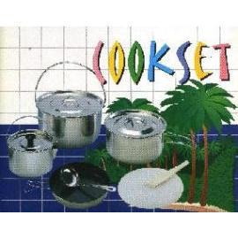 Camping Cooking set , stainless ,kitchenware , cookware , pan (Кемпинг Кухня набор, нержавеющая сталь, посуды, посуда, сковороды)