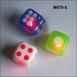 FLASHING BOUNCING DICE