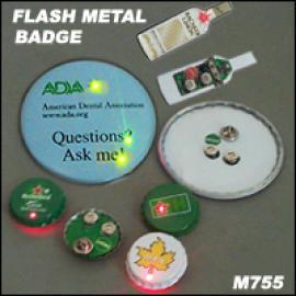 FLASH METAL BADGE