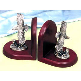 Solid wood/eagle bookends (Bois massif / Bookends aigle)