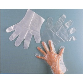 Polyethylene Gloves,High Density Embossed,0.011m/m