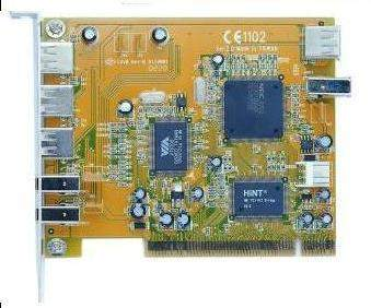 PCI Combo USB2.0 3+1 and 1394 2+1 Card