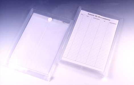 STRING ENVELOPE , F/C ; WITH FRONT INDEX POCKET & INDEX PAPER