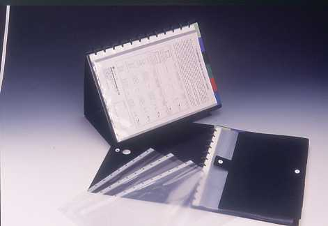 DISPLAY STAND 20P , A4 ; ``T`` TYPE PUNCHING POCKET ; WITH 6 INDEX DIVIDERS