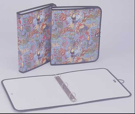 1`` 3 ``0`` RING BINDER , LETTER ; OFFSET PRINTING ; WITH SEWING & METAL BUTTON