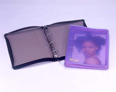1 1/2`` 4 ``0`` RING BINDER , A4 ; WITH SEWING & ZIPPER
