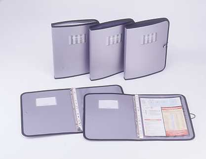 3/4`` 4 ``0`` RING BINDER , A4 ; WITH SEWING ; METAL BUTTON & NAME CARD POCKET