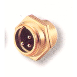 3 PIN Male Mic Chassis Mount Type Gold Plated Connector