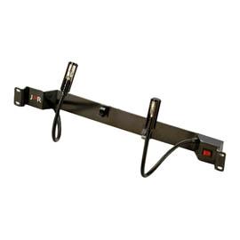 Spread type rack lighting w/ double Gooseneck lamp-rocker switch (Распространенный тип Стойка освещения W / двойной лампой Gooseneck-рокер переключатель)