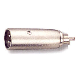 3 Pin Male Mic to RCA Plug Adaptor