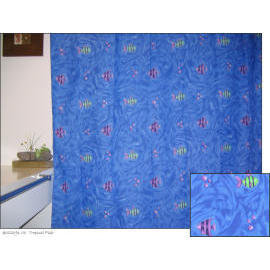 Polyester Shower Curtain - Tropical Fish (Полиэстер Shower Curtain - Тропические рыбы)