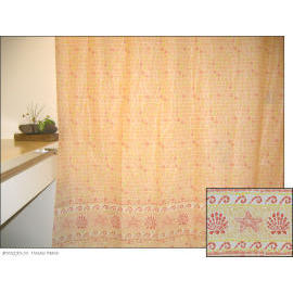 Polyester Shower Curtain - Mosaic Peach (Полиэстер Shower Curtain - мозаика персика)