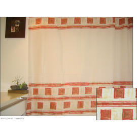 Polyester Shower Curtain - Terracotta (Полиэстер Shower Curtain - терракотовая)